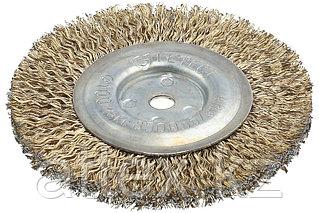 Щетка дисковая, стальная, 8мм / 100мм РОССИЯ 3518-100