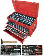 Инструментальный ящик с набором инструмента 123 поз., 3 отд.