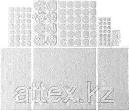 """Набор STAYER """"COMFORT"""": Накладки самоклеящиеся на мебельные ножки, 98 шт, белые 40917-H98"""