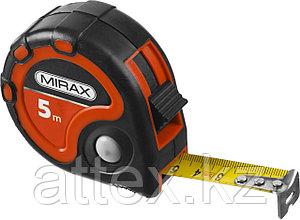 Рулетка MIRAX, 3 стопора, двухкомпонентный пластиковый корпус, 5мх25мм 34013-05-25