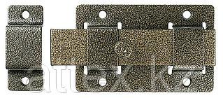 "Задвижка накладная""ЗД-02""для дверей усилен, порошковое покрытие, цвет бронза, плоский засов 30х135х7мм, 75х115мм  37778-2"