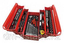T47131 Ящик переносной с набором инструмента 76 поз., 5 отд.