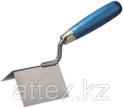 """Кельма STAYER """"PROFI"""" для внешних углов, нержавеющее полотно, 80х60мм 0835"""