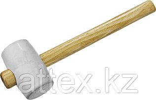 """Киянка ЗУБР """"МАСТЕР"""" резиновая белая, с деревянной ручкой, 230г  20511-230_z01"""