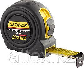 """Рулетка STAYER """"PROFI"""" """"AREX"""", двухкомпонентный противоударный корпус, упрочненное полотно, 5м/19мм  3410-05_z01"""