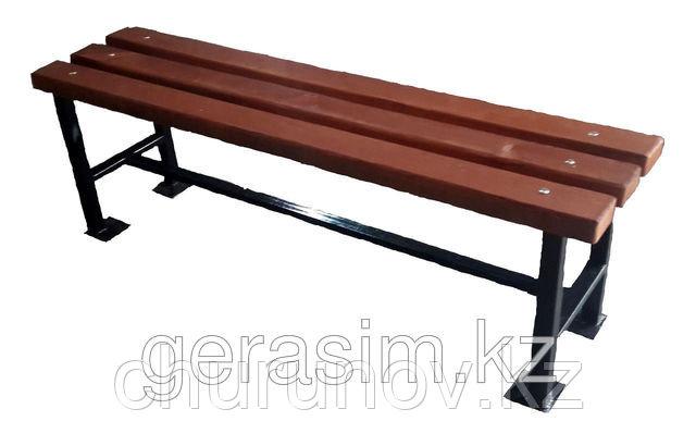 Скамейки без спинки 1,5м