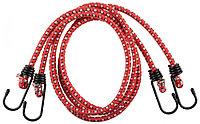 """Шнур ЗУБР """"МАСТЕР"""" резиновый крепежный со стальными крюками, 120 см, d 8 мм, 2 шт 40507-120"""