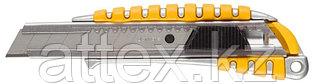 "Нож STAYER ""MASTER"" металлический обрезиненный корпус, автостоп, 18мм 09143"