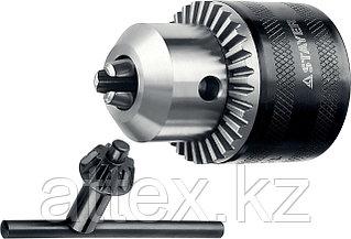 """Патрон ударный STAYER """"PROFESSIONAL"""" ключевой для дрели, 10 мм, с ключом в комплекте, посадочная рез 29055-10-1/2"""