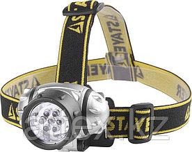 "Фонарь STAYER ""STANDARD"" налобный светодиодный, 7LED, 3 режима, 3ААА 56572"