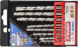 Набор ЗУБР Сверла по бетону ударные, 3-4-5-6-6-8-8-10 мм, пластиковый бокс, 8шт  29140-H8_z01