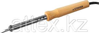 """Паяльник STAYER """"MASTER"""" с деревянной рукояткой и долговечным жалом, 80 Вт, клин  55310-80"""
