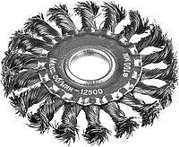 DEXX. Щетка дисковая для УШМ, жгутированная стальная проволока 0,5мм, 100ммх22мм  35100-100