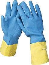 Перчатки STAYER латексные с неопреновым покрытием, экстрастойкие, с х/б напылением, размер M 11210-M