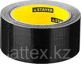 """Армированная лента STAYER """"PROFESSIONAL"""", универсальная, влагостойкая, 48мм х 25м, черная 12086-50-25"""