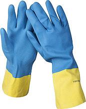 Перчатки STAYER латексные с неопреновым покрытием, экстрастойкие, с х/б напылением, размер XL 11210-XL