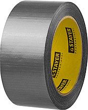 Армированная лента, STAYER 12080-50-25, универсальная, влагостойкая, 48мм х 25м, серебристая
