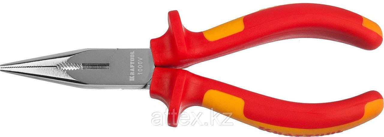 """Тонкогубцы """"ELECTRO-KRAFT"""", Cr-Mo сталь, двухкомпонентная маслобензостойкая рукоятка, хромированное  2202-3-16_z01"""