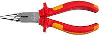 """Тонкогубцы """"ELECTRO-KRAFT"""", Cr-Mo сталь, двухкомпонентная маслобензостойкая рукоятка, хромированное  2202-3-16_z01, фото 1"""