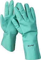 Перчатки KRAFTOOL маслобензостойкие, нитриловые, повышенной прочности, с х/б напылением, размер XXL 11280-XXL