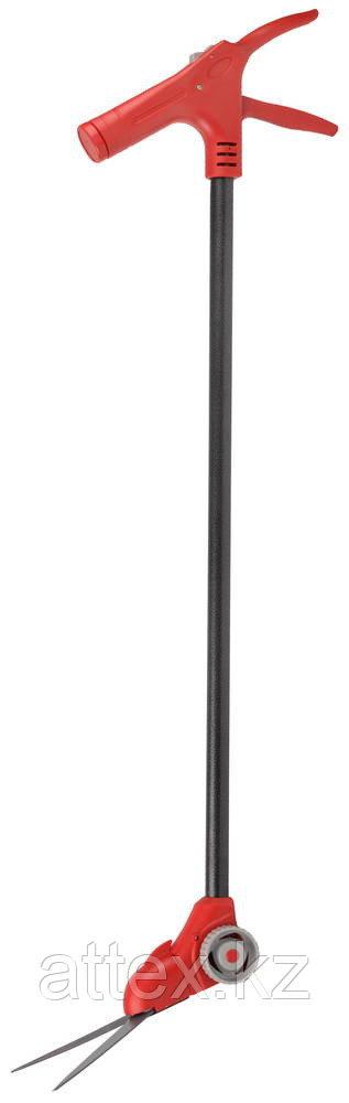 Ножницы GRINDA для стрижки травы, поворотный механизм 180 гр, на удлинителе и подставке с колесиками  8-422087_z01