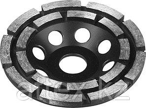 Чашка ЗУБР алмазная сегментная двухрядная, высота 22,2мм, 115мм 33372-115