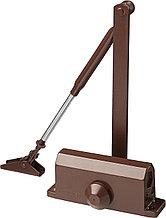 Доводчик дверной STAYER, для дверей массой до 80 кг, цвет коричневый 37917-80