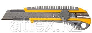 """Нож STAYER """"PROFI"""" механический фиксатор, двухкомпонентный корпус, 25мм 09141"""