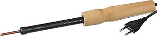 Электропаяльник с деревянной рукояткой, 25Вт РОССИЯ 55407-25