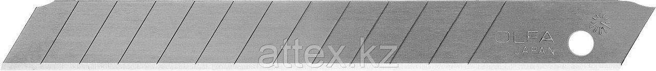 Лезвия OLFA сегментированные из нержавеющей стали, 9х80х0,38мм, 13 сегментов, 50шт OL-AB-50S