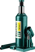 """Домкрат гидравлический бутылочный """"Kraft-Lift"""", сварной, 6т, 220-435мм, KRAFTOOL 43462-6  43462-6_z01"""
