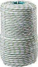 Фал плетёный капроновый СИБИН 16-прядный с капроновым сердечником, диаметр 8 мм, бухта 100 м, 1000 кгс 50220-08