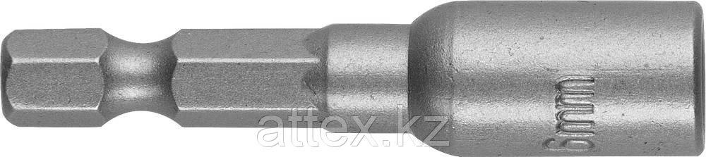 "Бита STAYER ""PROFI"" с торцовой головкой, ""Нат-драйвер"", магнитная, типхвостовика - E 1/4"", длина 48 мм, 6мм, 1шт Kraftool 26390-06"