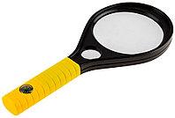 """Лупа STAYER """"MASTER"""", пластиковый корпус, 2-х/6-и кратное увеличение, диаметр 90мм 40530-90"""
