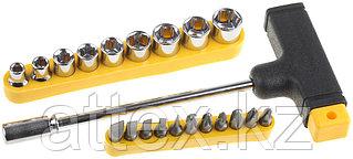 Набор: Отвертка Т-образная Maxfix с битами и торцовыми головками, 22-в-1, STAYER 2540-H20, 22 предмета