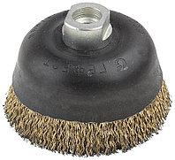 Щетка чашечная для угловой шлифовальной машины, стальная с гайкой, 90мм/М14  3524-90-M14