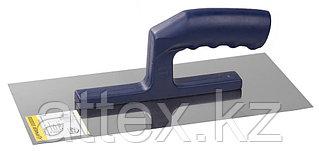 Гладилка ЗУБР нержавеющая с пластиковой ручкой, 130х280мм 0804