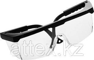 Очки STAYER защитные с регулируемыми по длине дужками, поликарбонатные прозрачные линзы с оправой 2-110451