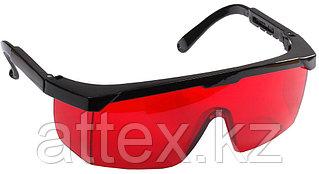 Очки STAYER защитные с регулируемыми по длине дужками, поликарбонатные красные линзы с оправой 2-110457