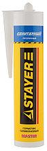 """Герметик STAYER """"MASTER"""" санитарный силиконовый, для помещений с повышенной влажностью, прозрачный,  41215-2_z01"""