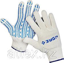 Перчатки ЗУБР трикотажные, 10 класс, х/б, с защитой от скольжения, L-XL, 10пар 11390-K10