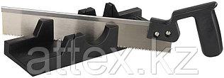 """Набор STAYER """"MASTER"""": cтусло пластмассовое + пила для стусла, ножовка 300мм, заточенный зуб 11TPI, стусло MIDI для заготовок до 65х35мм 1539-30"""
