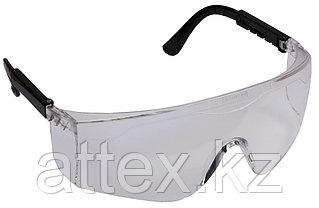 Очки STAYER защитные с регулируемыми по длине дужками, поликарбонатные прозрачные линзы 2-110461