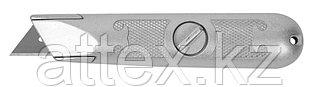 """Нож ЗУБР """"МАСТЕР"""" с трапециевидным лезвием тип А24, металлический корпус, фиксированное лезвие  09215_z01"""