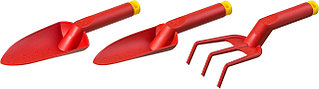 Набор GRINDA: Совок посадочный широкий, совок посадочный узкий, рыхлитель с нейлоновым корпусом, 3 предмета  421360-H3