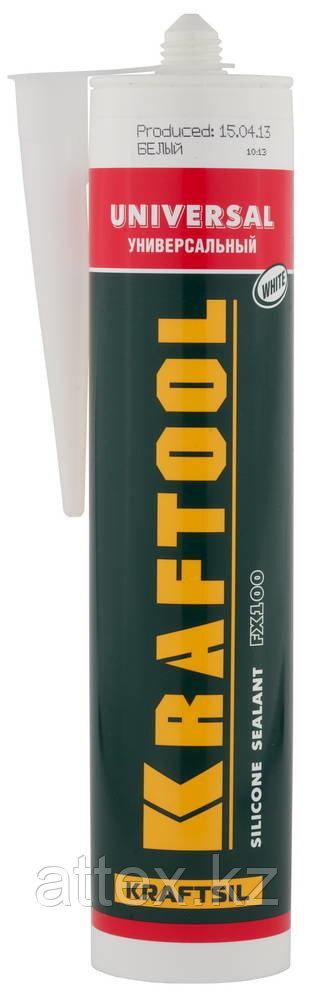 Герметик силиконовый KRAFTOOL белый, универсальный, 300мл 41253-0