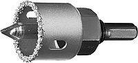 """Коронка-чашка ЗУБР """"ПРОФЕССИОНАЛ"""" c карбид-вольфрамовым нанесением, 32 мм, высота 25 мм, в сборе с д  33360-032_z01, фото 1"""