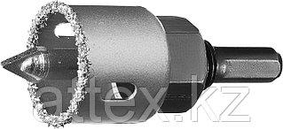 """Коронка-чашка ЗУБР """"ПРОФЕССИОНАЛ"""" c карбид-вольфрамовым нанесением, 32 мм, высота 25 мм, в сборе с д  33360-032_z01"""