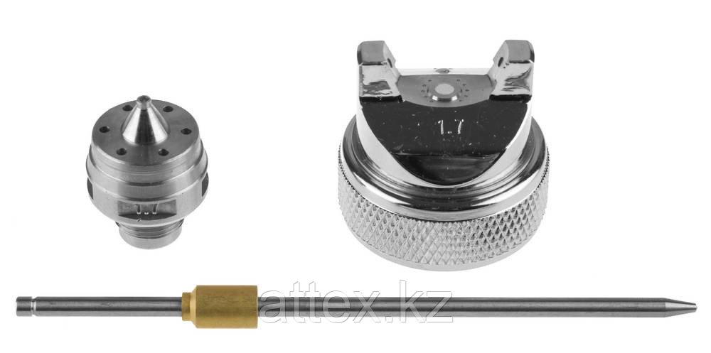 Комплект сменный KRAFTOOL к краскораспылителям, арт. 06563: дюза, воздушная головка, игла, 1,7мм  06563-S-1.7