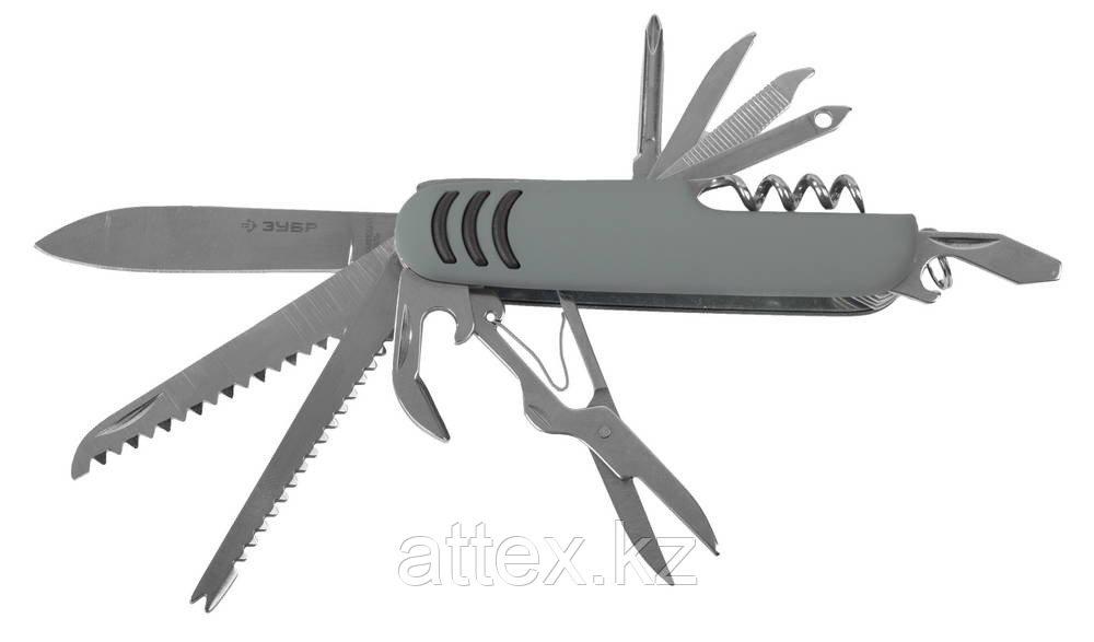 """Нож ЗУБР """"МАСТЕР"""" складной многофункциональный, """"12 в 1"""", обрезиненная рукоятка 47780"""